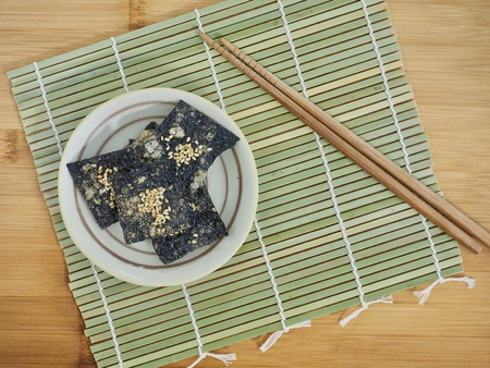 한국 음식 김 크래커