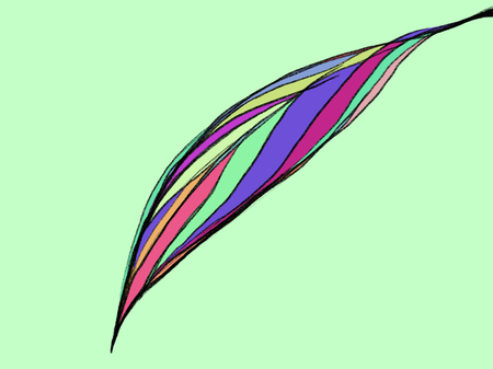Abstract multicolor representation of leaves