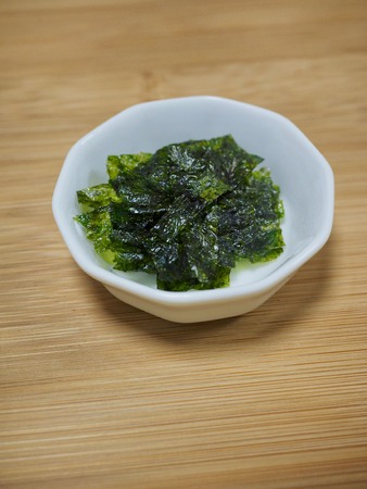 Korean food Dried laver, laver powder Stock Photo