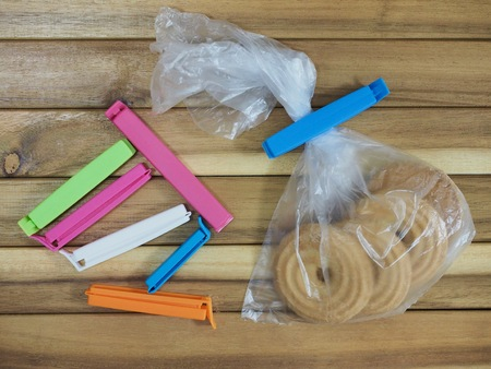 Bag tongs, Household goods 스톡 콘텐츠