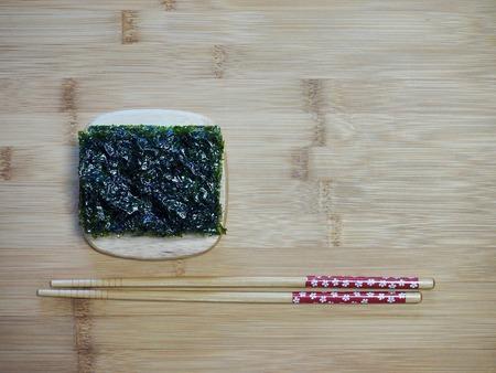 Korean food laver, seasoned laver
