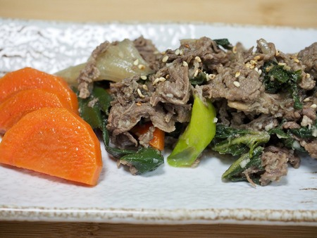 korean food bulgogi Stock Photo