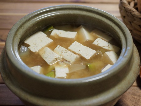 Asian food Soybean Paste Stew, miso soup Stock Photo