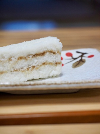 Korean food Snow White Rice Cake