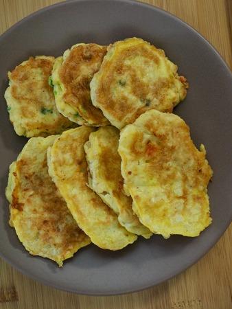 Korean food modeum jeon, Assorted Pancakes, Korean style meatball Stock Photo