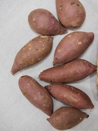 Sweet potatoes in a basket
