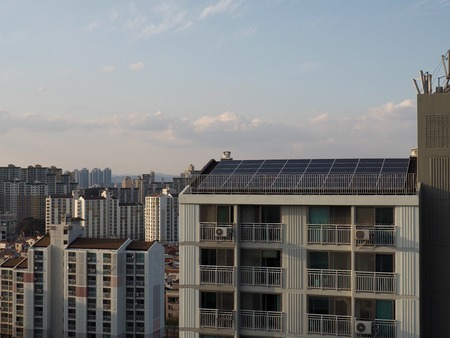 Apartment in South Korea with solar panels