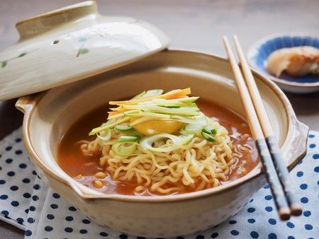 Asian food ramen, Instant Ramen Stock Photo