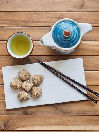 Asian food Sesame glutinous rice cake