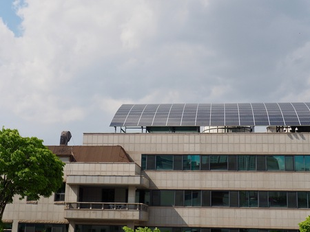 House roof with solar panel in Korea