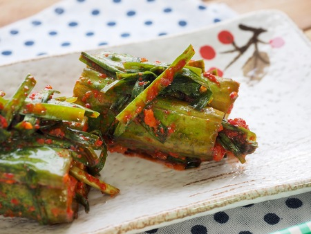 Korean food cucumber kimchi