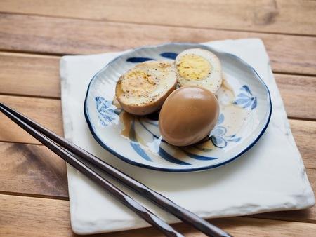Korean food Soy Sauce Braised egg, Jang-jorim Reklamní fotografie