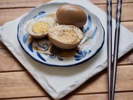 Korean food Soy Sauce Braised egg, Jang-jorim Stock Photo
