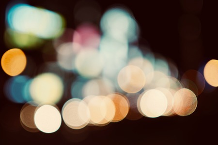 Light and Bokeh, focus blur Stock Photo