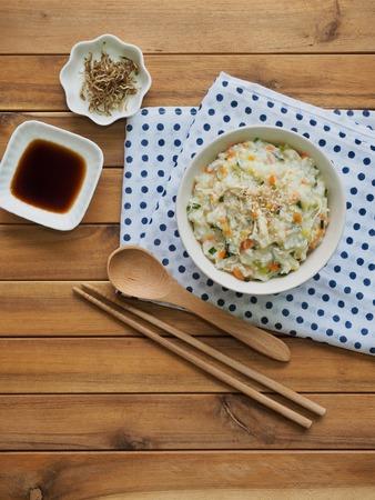 Korean food Chicken Rice Porridge, min juk