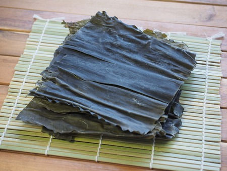 Asian food ingredients Dried kelp Stock Photo