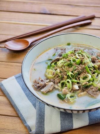 Korean food Sundae soup, sundae gukbap