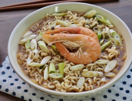 Asian food shrimp ramen