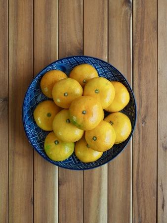 Fresh Korean fruit Jeju citrus, mandarin, tangerine 免版税图像