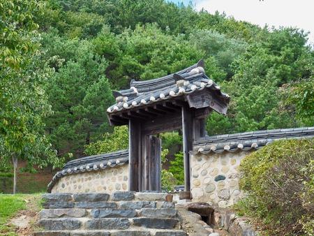 Korean Traditional Hanok Gate