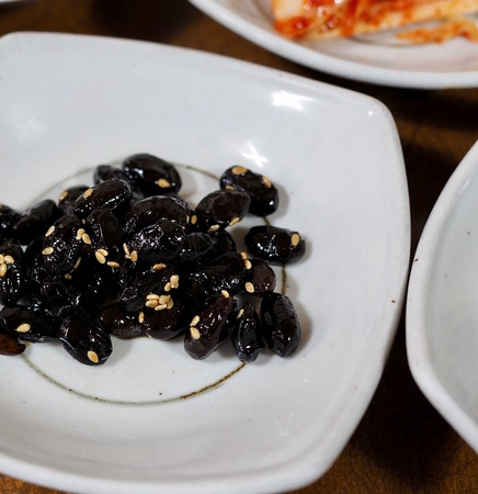 Asian food Simmered bean soy sauce Stok Fotoğraf