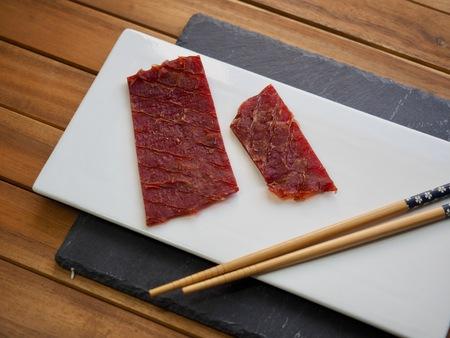 Asian food beef jerky
