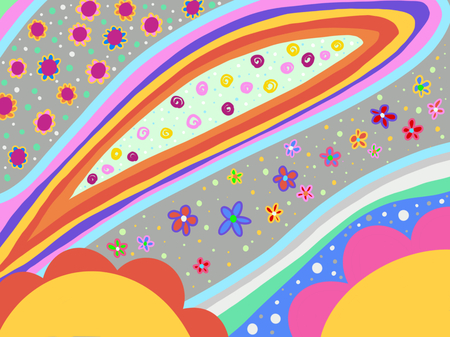 Abstract background with illustration of floral shapes