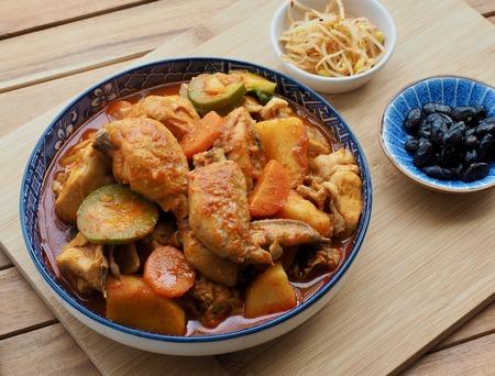 Korean Food Braised Spicy Chicken Imagens