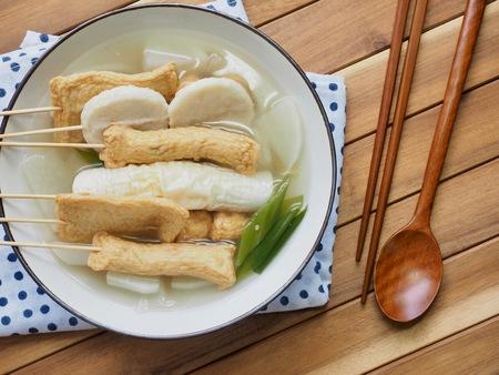 Asian food Fish paste stew, eomuk tang