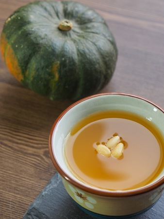 Korean beverage Sweet pumpkin sikhye, Pumpkin beverage