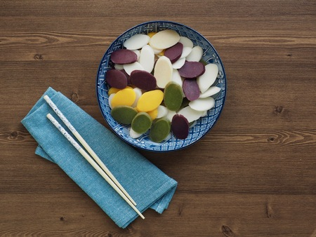 Korean food, Five colors Bar rice cake