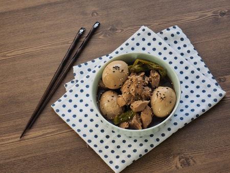 Asian food Chicken egg soy sauce Braised