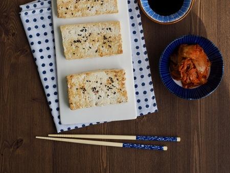 Korean food tofu kimchi