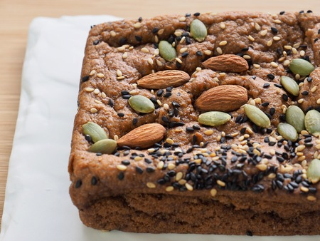 Almonds and pumpkin seed plus bread