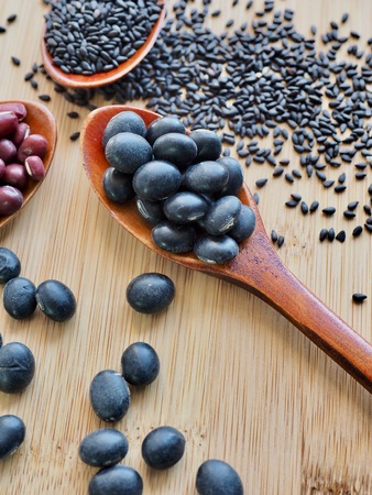 Red beans and black beans and black sesame