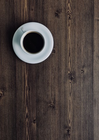 Wooden board background with coffee 版權商用圖片