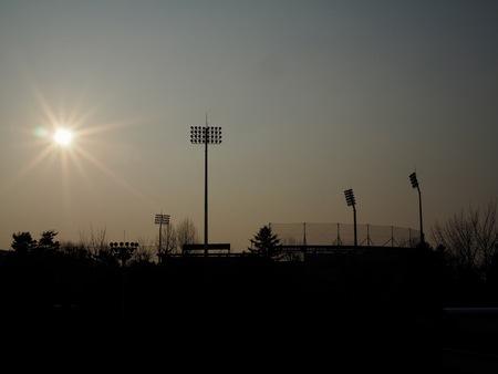 Baseball field lighting and the sun