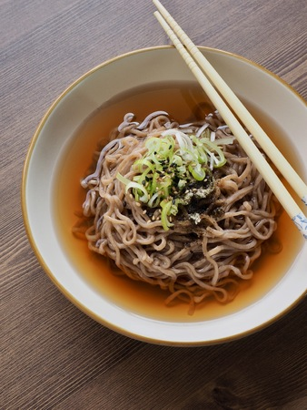 Asian food buckwheat noodles