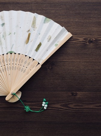 Korean traditional folding fan, summer Banco de Imagens