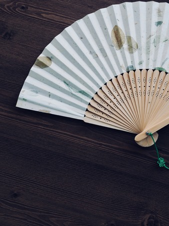 Korean traditional folding fan, summer Archivio Fotografico