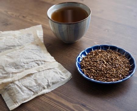 Asian traditional tea barley tea and tea bag Banco de Imagens