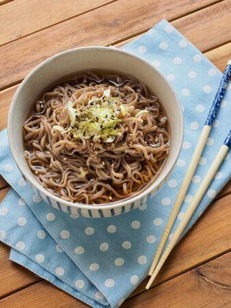 Asian food buckwheat noodles, Summer food Reklamní fotografie