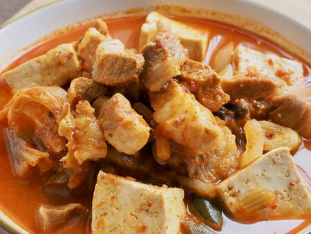 Korean food Kimchi stew, Kimchi-jjigae
