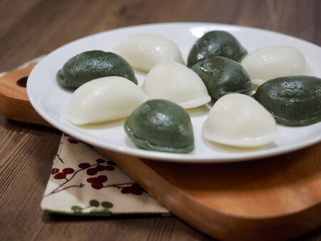 Korean food Songpyeon, half-moon-shaped rice cake Stock fotó