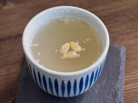 Korean traditional drink, sikhye, sweet rice drink