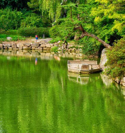 Changgyeonggung Palace Pond and Ship in Korea Stock Photo