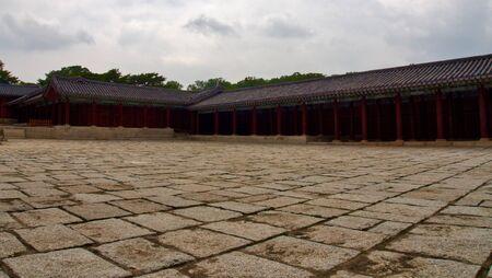 Korean Traditional Palace Changgyeonggung, Traditional Building Stock Photo