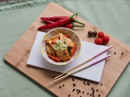 Korean food side dish Fried fish paste