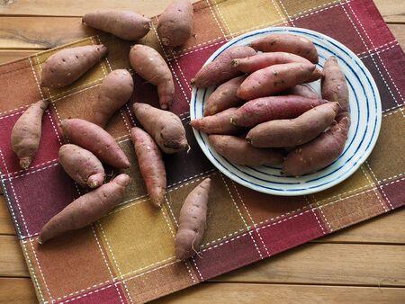 Korean Organic Sweet Potato, Wellness food 写真素材