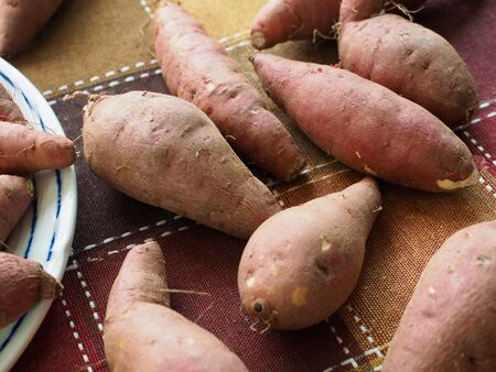 Korean Organic Sweet Potato, Wellness food 写真素材